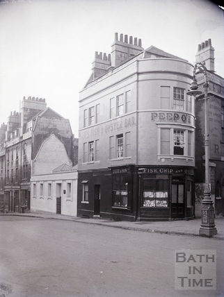 Saw Close, Lee's Fish, Chip & Oyster bar c.1920s