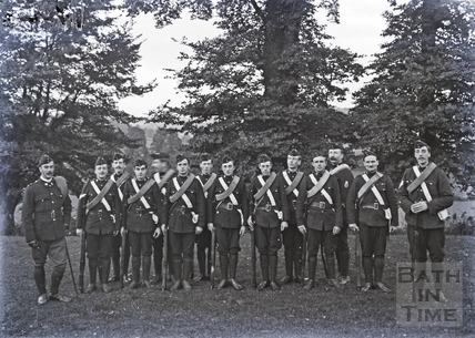 Young men, possibly volunteer riflemen c.1910s
