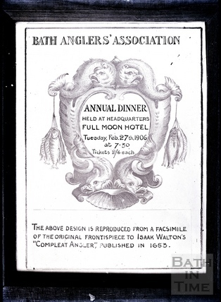 Bath Anglers Association poster 1906