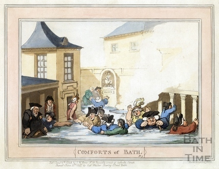 Comforts of Bath, Plate 7 from 1798