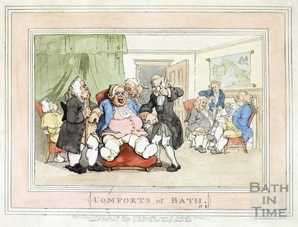 Comforts of Bath, Plate 1 from 1798