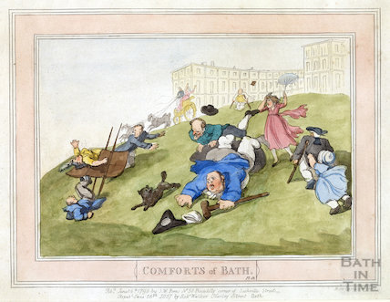Comforts of Bath, Plate 12 from 1798