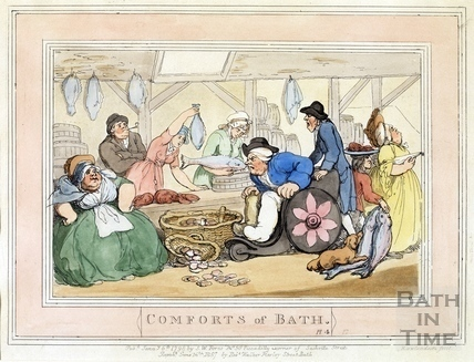 Comforts of Bath, Plate 4 from 1798