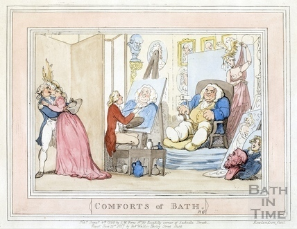 Comforts of Bath, Plate 6 from 1798