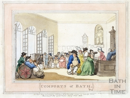 Comforts of Bath, Plate 3 from 1798