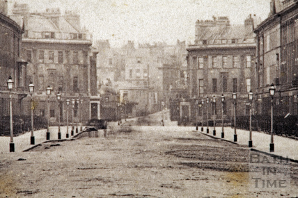 Great Pulteney Street. View from the Holburne Museum looking towards Laura Place 1874
