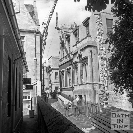 View up Bridewell Lane to the Royal Mineral Water Hospital c.1960s
