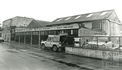 St Johns Road, Bodywork shop 12 Feb 1987