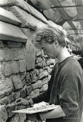 Repointing the city wall, Upper Borough Walls 11 May 1989