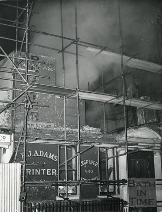 No 1 Trim Street, being demolished, c.1965
