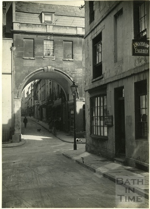 Looking through Trimbridge to Queen Street, from Trim Street c.1930s