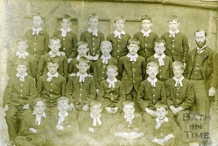 Pupils from the Bluecoat School, c.1896