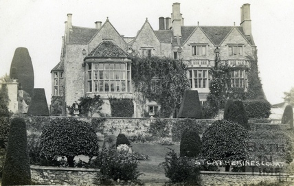 St Catherine's Court, south front and garden, view from the south c.1930