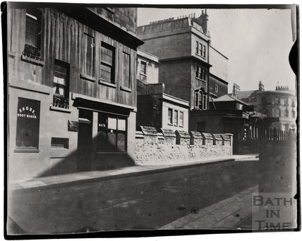 The medieval city walls, Upper Borough Walls, opposite the Mineral Water Hospital c.1900
