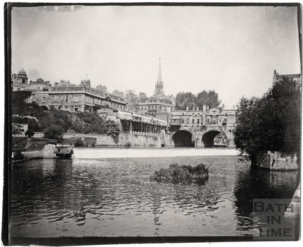 Pulteney Bridge and weir, c.1900