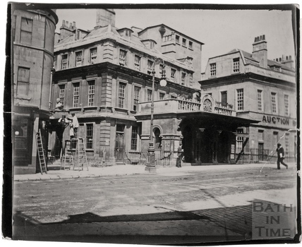 Theatre Royal and Beau Nash's House, Sawclose c.1900