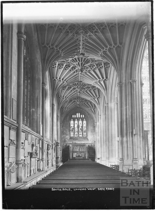 South Aisle, looking West, Abbey Interior c.1937