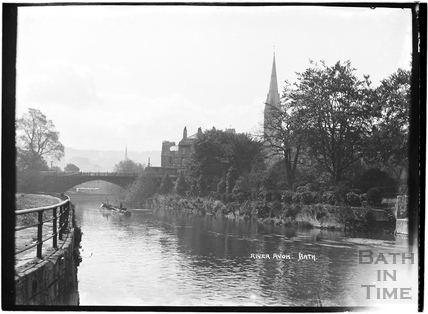 River Avon looking towards St Johns church.