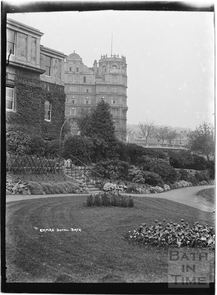 Empire Hotel from Institution Gardens c.1920s