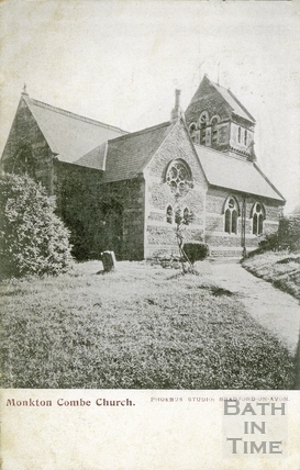 St Michaels Church, Monkton Combe c.1906