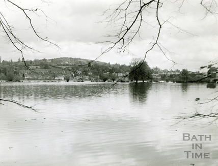 The Bathampton Meadows flooded c.1960