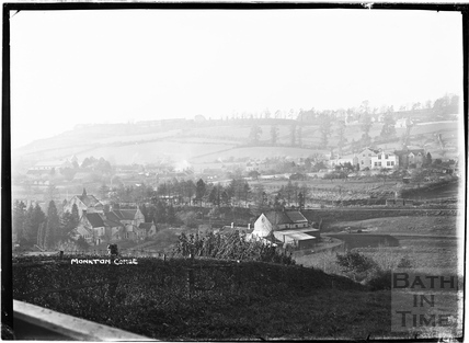 View of Monkton Combe from the east c.1910