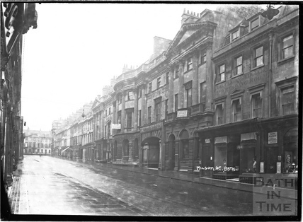 Milsom Street showing the eastern side, looking north c.1920