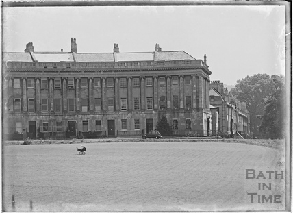 Royal Crescent looking towards Brock Street post 1944