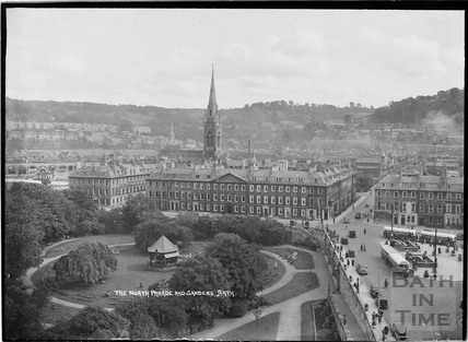 The North Parade and Gardens from the Empire Hotel 11 Sept 1938