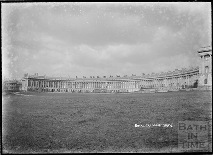The Royal Crescent from the south c.1920