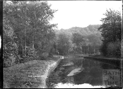 View from the Dundas Aqueduct on the Kennet and Avon Canal towards Limpley Stoke c.1934