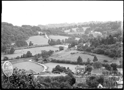 View from Brassknocker Hill towards Winsley Hill c.1934
