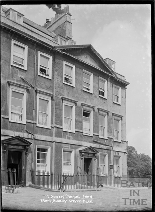 14 South Parade, where Fanny Burney stayed. c.1930s
