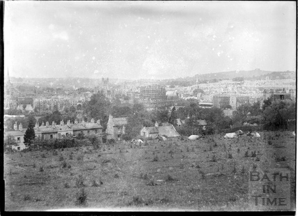 View from behind Sydney Buildings of Bath and the Empire Hotel c.1930s