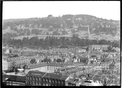 View of the Royal Crescent and Lansdown No 2. July c.1937