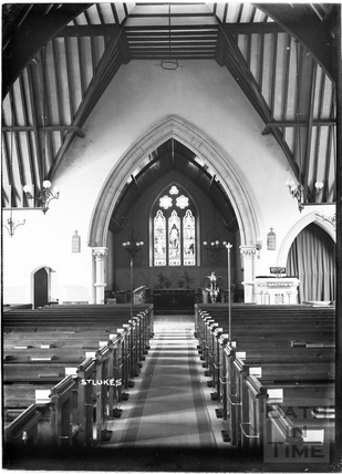 Inside St Luke's church, Wellsway c.1908