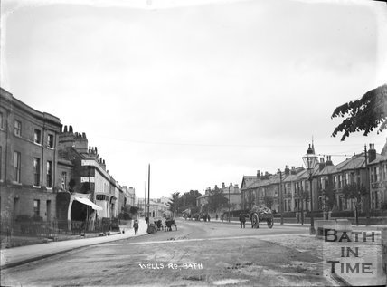 The junction of Bloomfield Road and the Wellsway c.1905