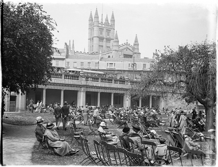 Tea in the sun in Parade Gardens c.1930s