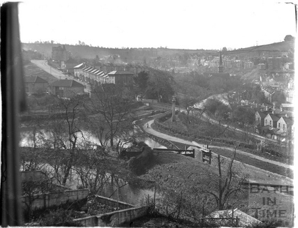 The Kennet and Avon Canal from Sydney Buildings, Bath July 1954