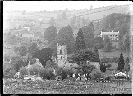 View of Dunkerton Church and Village, September 1938