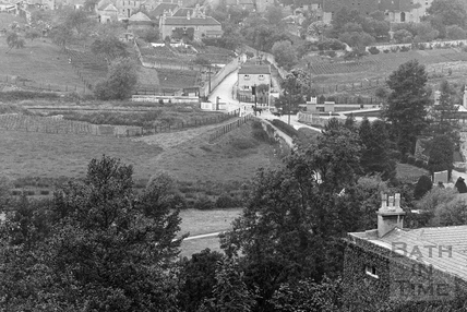 View of Monkton Combe and Freeman's Mill c.1910 - detail