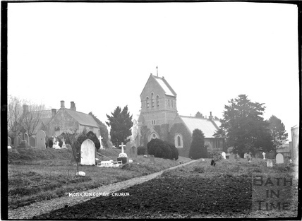 St Michaels Church, Monkton Combe c.1904
