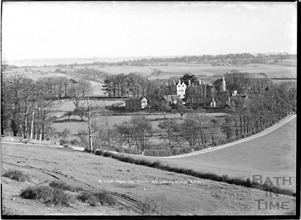 A view from the hills at Southstoke, 22 March 1938