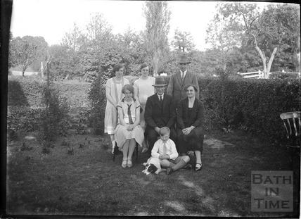 Unidentified family group, probably in Wellow c.1930s