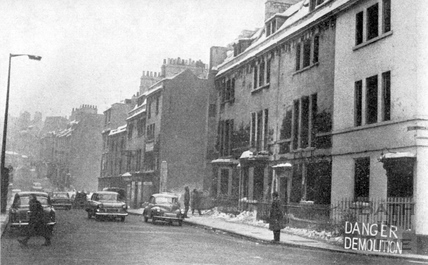 The destruction of Charles Street in 1963