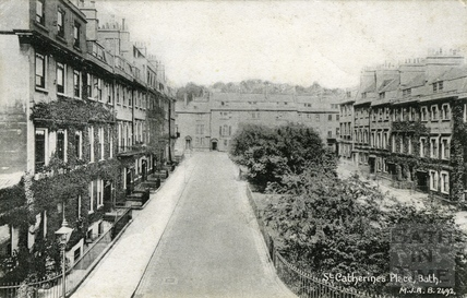 View of Catharine Place looking north c.1906