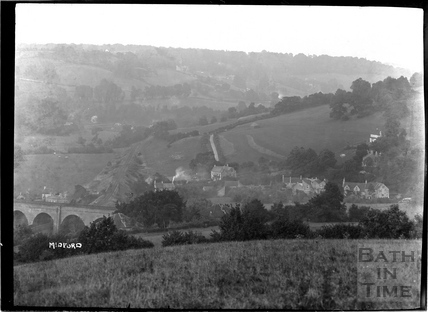 View of Midford looking east towards Tucking Mill, c.1922