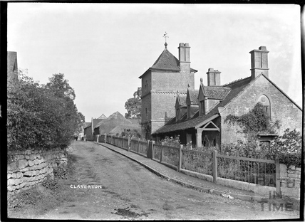 Houses in Claverton, looking south, c.1906