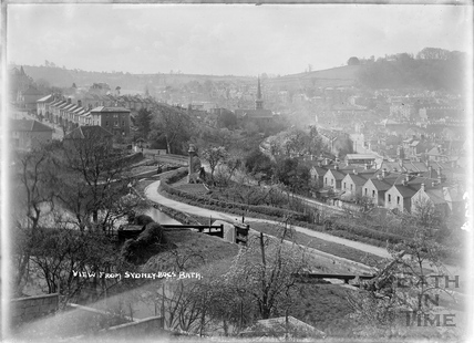 View from Sydney Buildings, Bath April 1950