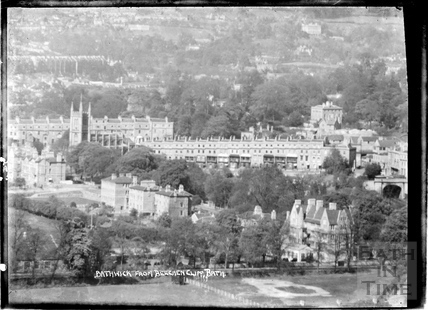 Bathwick from Beechen Cliff, 2 April 1950